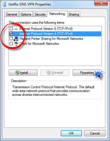 DNS-over-VPN Setup: Windows 7 – Getflix Knowledge Base